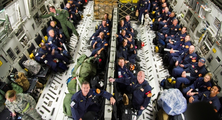 L.A. County Firefighters Arrive in Nepal to Rescue Earthquake Victims