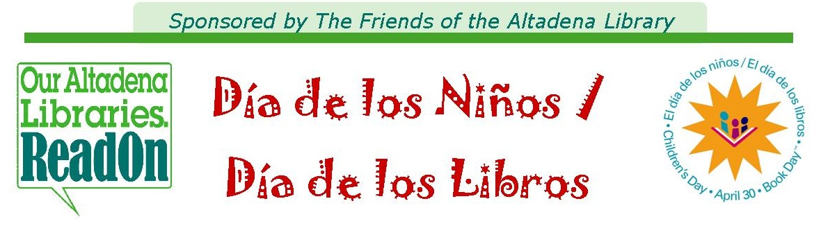 Award Winning Children's Book Author Antionio Sacre to Visit the Altadena Library for El Día de Los Niños/El Día de Los Libros (Children's Day/Book Day)