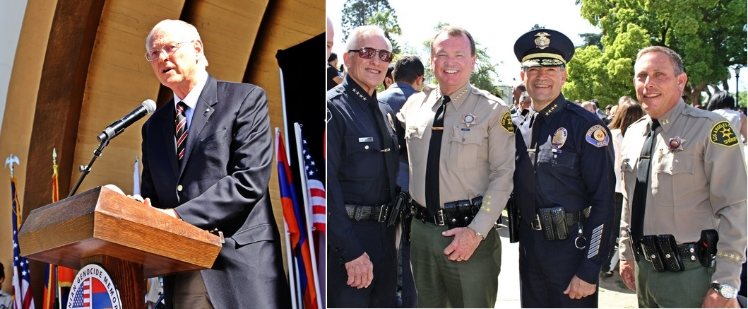 Video: Altadena Armenian-Americans, County Mayor Antonovich, Sheriff McDonnell and Altadena Station's Captain Reed Attend Unveiling of Local Armenian Genocide Memorial