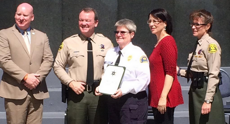 "Deb Halberstadt Named Altadena Sheriff's Station ""Volunteer of the Year"""