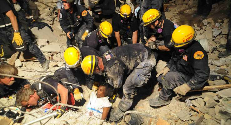 Los Angeles County Fire Department Urban  Search and Rescue Team Members Deploy to Nepal Earthquake Disaster