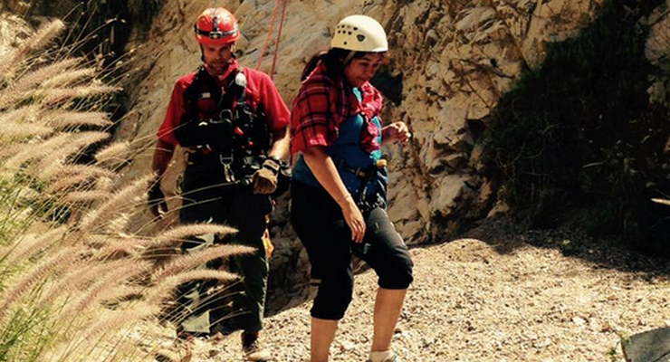 "Altadena Mountain Rescue Team Helps with Saturday Rescue: ""Hiker Hanging From Cliff"""