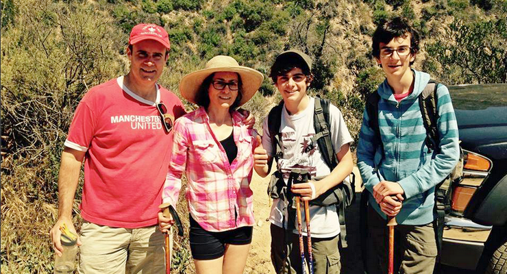 Father Reunited with Family, Who Were Trapped on Steep Hillside Above Las Flores Canyon