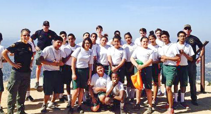 VIDA Program Youngsters, Sheriff's Deputies and Altadena Mountain Rescue Hike to Echo Mountain Today