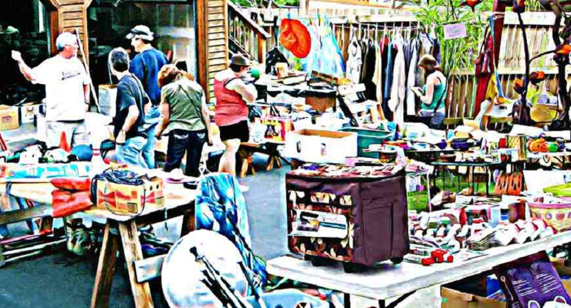 Weekend Garage Sales – Only a Few as Town Dries Out