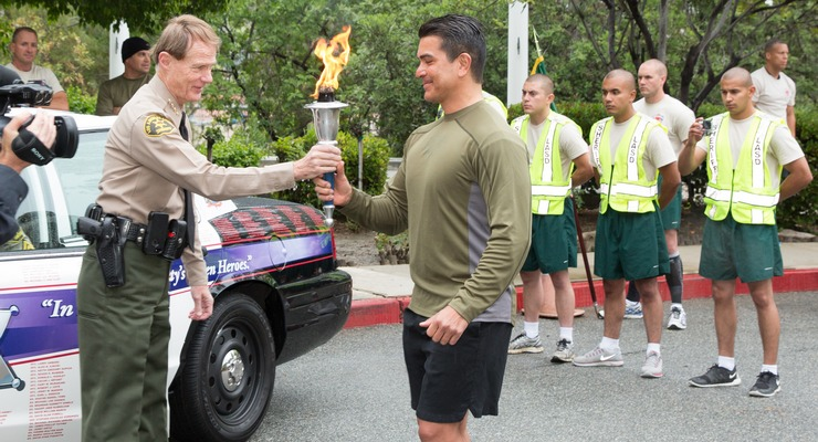 Despite Spring Showers, the 38th Annual Memorial Torch Relay Run Kicked-off Without a Hitch