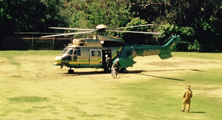 Sheriff's Air 5 Lands at Farnsworth Park in Rescue of Hiker Who Fell 75 Feet Down Cliffside