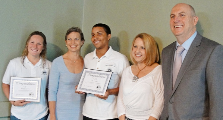Altadena Chamber Awards Wullschlager Scholarships to Madeleine Lepesant and Bryson Moore