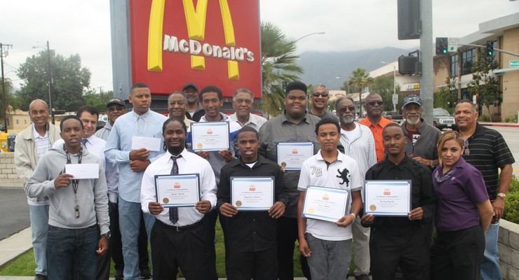 Muir Grads Grateful for McDonald's Men's Group Scholarships