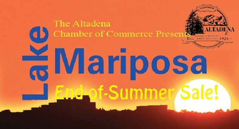 "The Altadena Chamber Presents ""The Lake & Mariposa End-Of-Summer Sale"" on September 12"