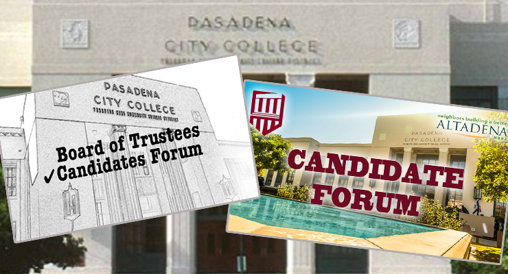 Two PCC Board Candidate Forums Scheduled for Altadena Voters