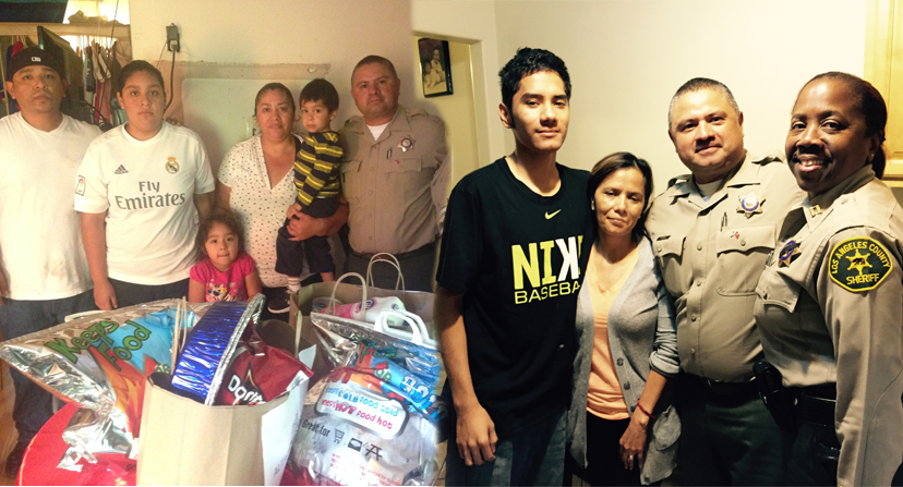 Altadena Families Get a Gift from Altadena Sheriff Station and Hilton Garden Inn at LAX