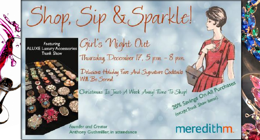 Shop, Sip and Sparkle for the Holidays Tonight