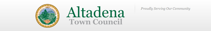 Altadena Town Council Issues Agenda for January 19, 2016