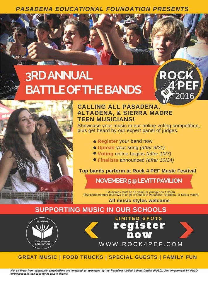 3rd Annual Battle of the Bands 2016 flyer