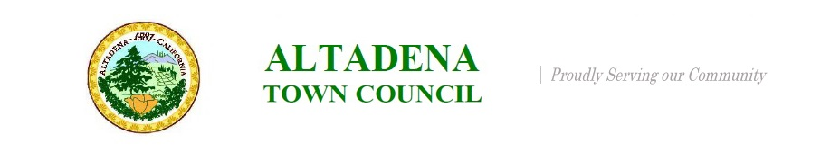 Altadena Town Council Issues Agenda for October 18, 2016