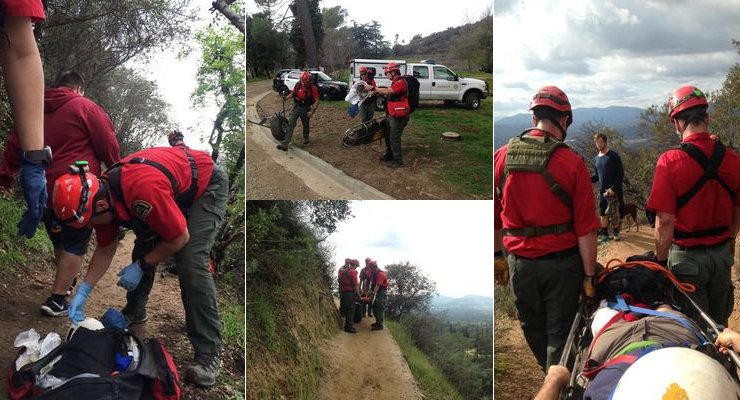 Dog Bites 2 Altadena Mountain Team Members as Injured Owner is Rescued