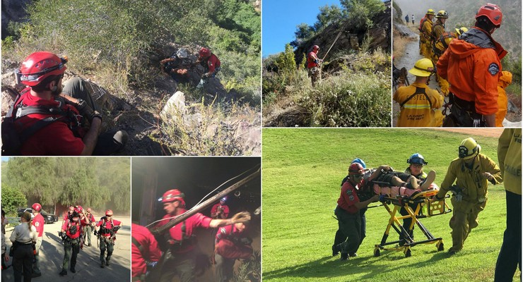 Drama in Mountains Above Altadena as Warmer Weather Drives Rescues to New Heights