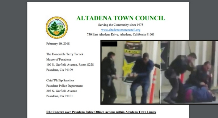 Altadena Town Council Sends Letter to Pasadena Officials Requesting Restrictions on Pasadena Police Within Their Town Limits