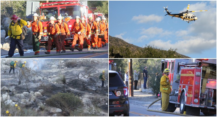 Wind-Fanned Brush Fire in Eaton Canyon Quickly Knocked Down Monday Afternoon