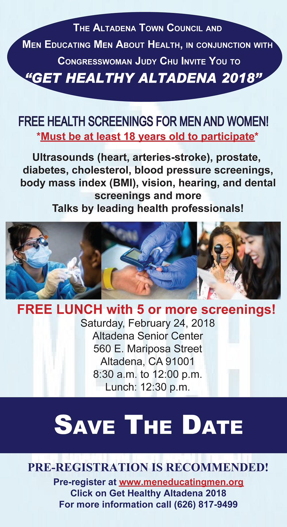 "MEMAH's ""Get Healthy Altadena"" Event Offers Free Health Screenings on February 24"