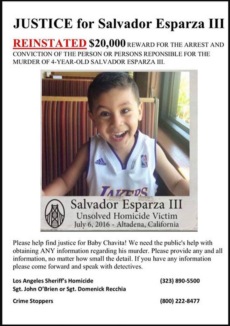 Reward Reinstated in Murder of 4-Year-Old Boy at Altadena Home, Police Seek Any Information